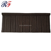 Roman wind and corrosion resistance stone coated steel roof tiles for building