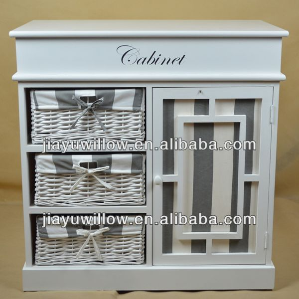English bulk wooden cube storage baskets cabinet with handle
