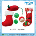 Wholesale Cute Plush Toy 5 Pcs/Set XMAS Cat Gift Packing Toy For Cat