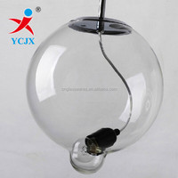 clear glass round ball lampshade/glass ceiling lighting round covers