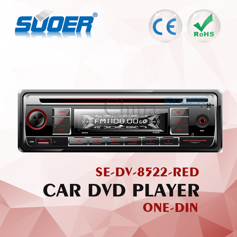 Suoer Single Din Car DVD Player Car DVD/VCD/CD/MP3/MP4/Player