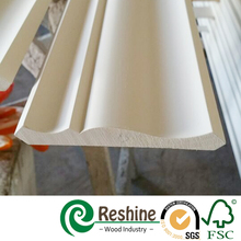 Primed inner ceiling wooden architrave crown moulding