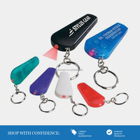 Imprint Logo Plastic LED Key Chain with Whistle