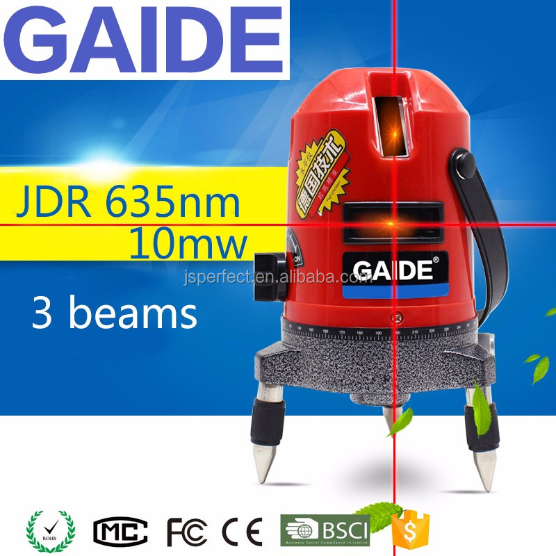 JDR 635nm 10mw 5 red beams lasers level outdoor for construction