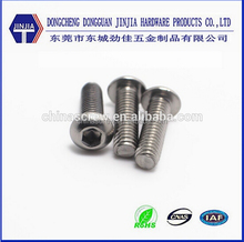 China factory stainless steel button head hex socket screw