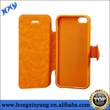 Hot Selling Wallet Leather mobile phone case for iphone 5C grain case.