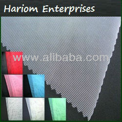 100% Nylon and polyester grey net fabric