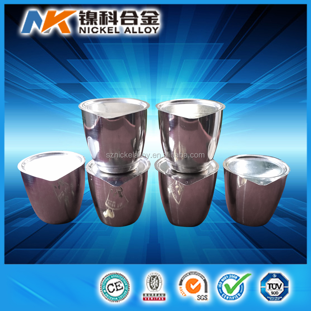 Alibaba competitive price 99.95% high purity platinum crucible with lids