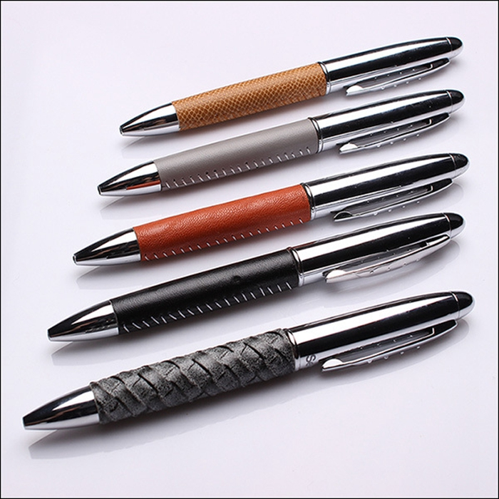Hot selling ballpoint pen multi ink color leather marking pen