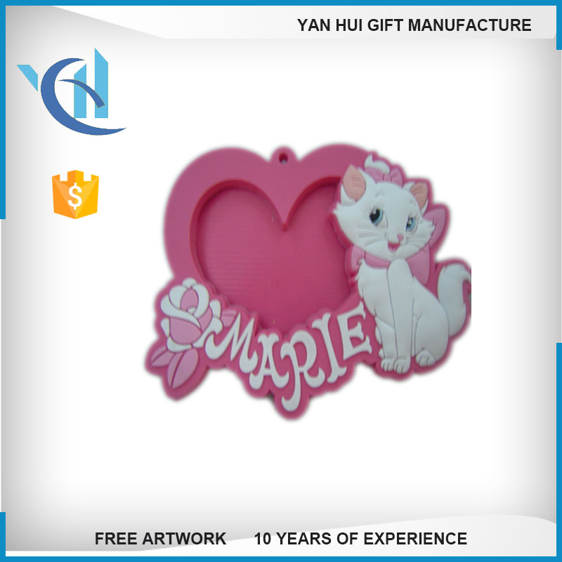 Customized 3d photo frame Embossed soft PVC photo frame