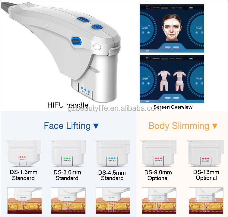 hifu machine body face and vaginal HIFU 2 in 1