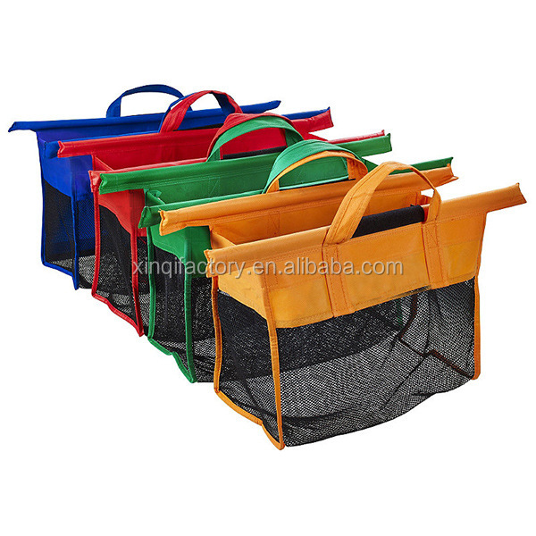 foldable Cart 4color Trolley non woven Shopping bag for supermarket