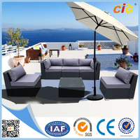 Leisure 9pcs KD HD Design Rattan Outdoor Garden Furniture