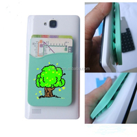 Wholesale novelty silicone cell phone sticker card holder