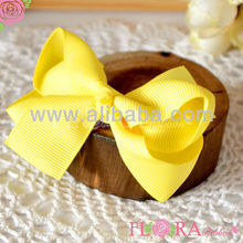 Delicate style cheap solid color cute baby bow hair accessories