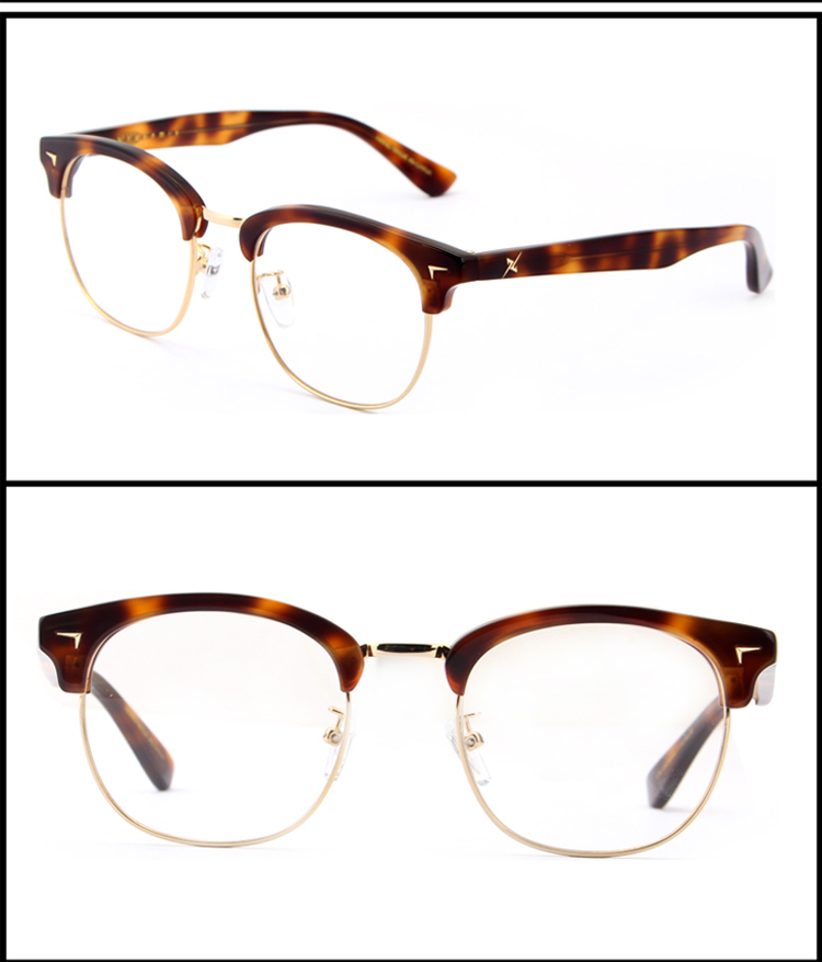 Half Frame Eyeglass Frames : New Arrival Half Frame Acetate Eyeglass Frames Factory ...