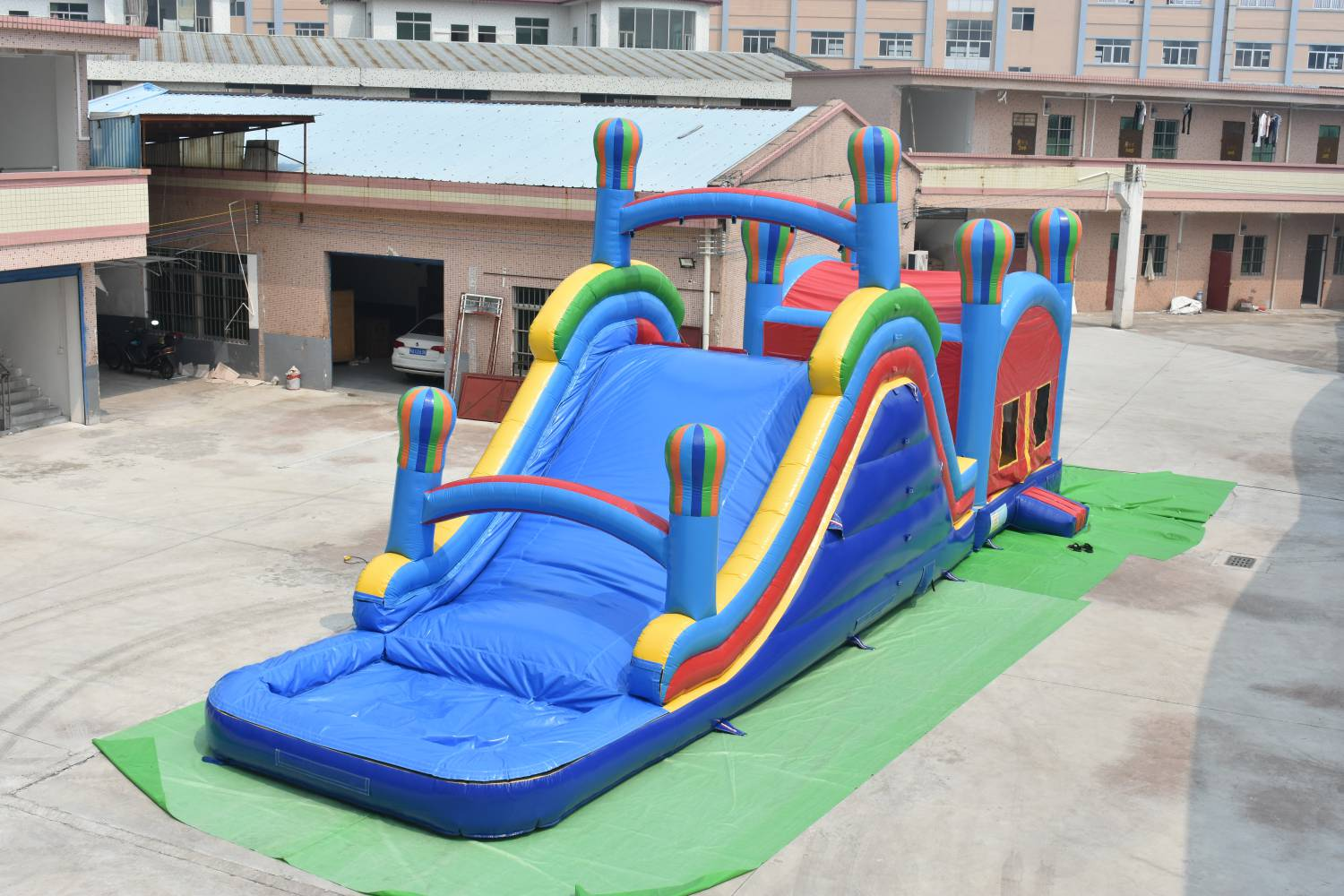 commercial kids  inflatable obstacle course slide with obstacle combo use party rental