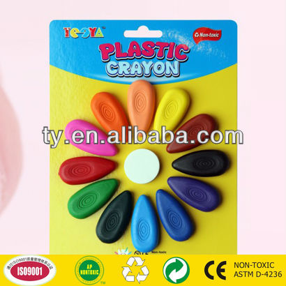12 colors plastic crayon
