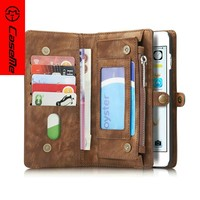 customized 2 in 1 detachable strong magnetic universal leather case for iphone6 plus , for iphone6 plus leather case