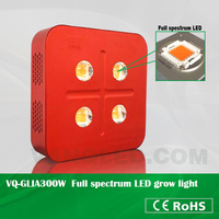 300W led grow light with full spectrum red660nm blue460nm UV380nm IR730nm for indoor coca seeds growing