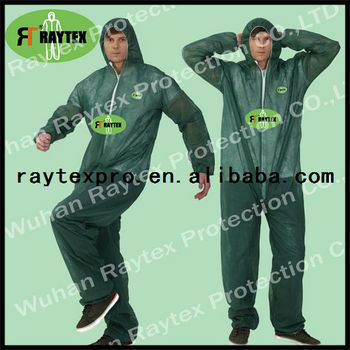 Disposable Nonwoven Coverall Suit With Hood