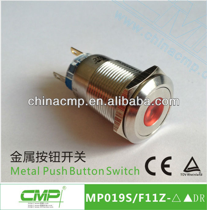 19mm Dot LED Light Horn Push Switch