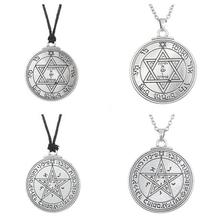 goth jewelry solomon seal pendant pentacle of mars talisman pagan wiccan pendant necklaces