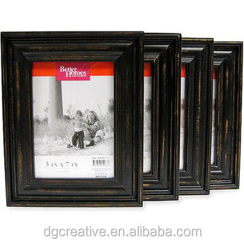 Better Homes And Gardens Distressed Black Wood 5x7 Set Of 4 Picture Frames Buy Handmade Wood