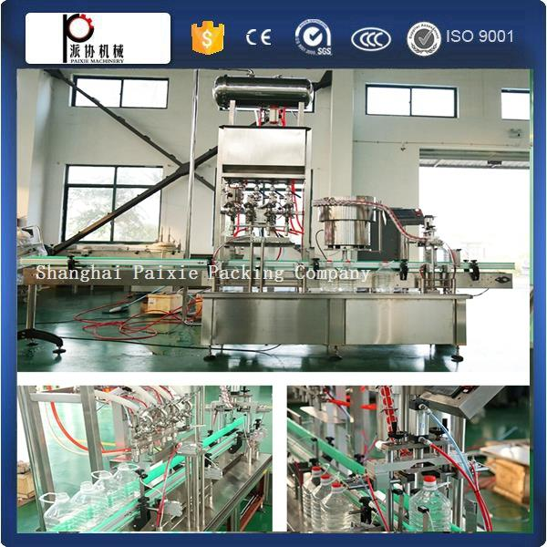 PET olive filling capping machine refined soybean oil filling machine with servo motor