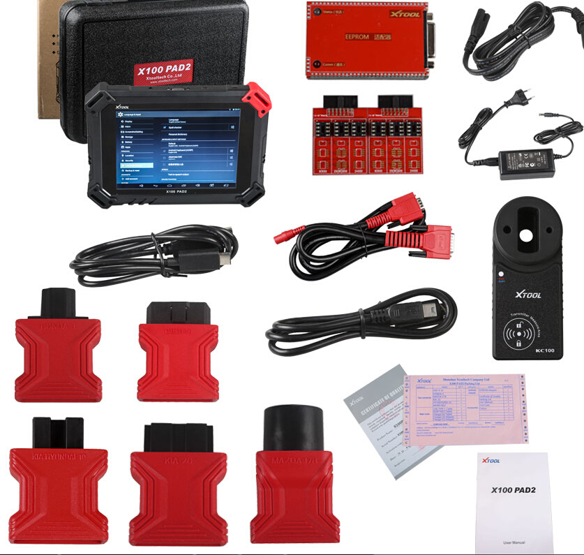 XTOOL X-100 PAD 2 tablet key programmer,mileage adjustment, oil service light reset