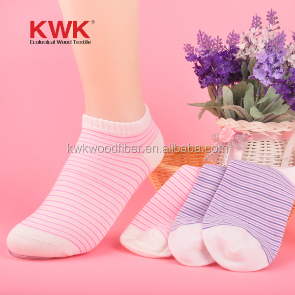 Wood fiber women anti odor socks