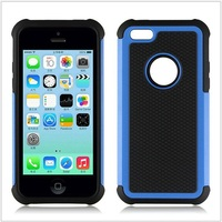 High Quality Plastic Silicone Combo Phone Case For iPhone 5C Rugged Case