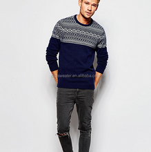 latest style men fashion elegant pullover sweater , high quality Knit Jumper for men wholesale