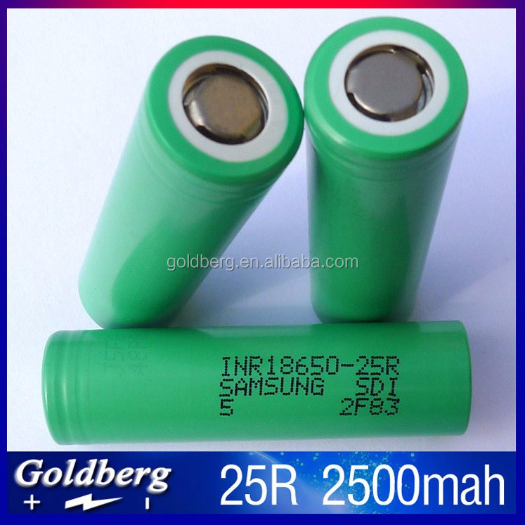 Goldberg wholesale authentic samsung 25r green samsung 25r 18650 battery