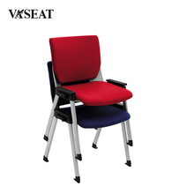 Comfortable durable adjustable arms stackable office chair for meeting room