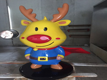 fiberglass cartoon figure for window display & Props, sculpted fiberglass craft-cartoon, fiberglass handicraft - cartoon