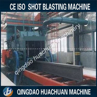 Roller conveyor H beam shot blasting machine used for different size