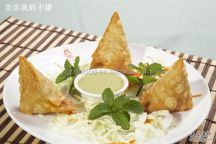 Thai instant food 100% hand made vegetable curry samosa hot sale in Walmat
