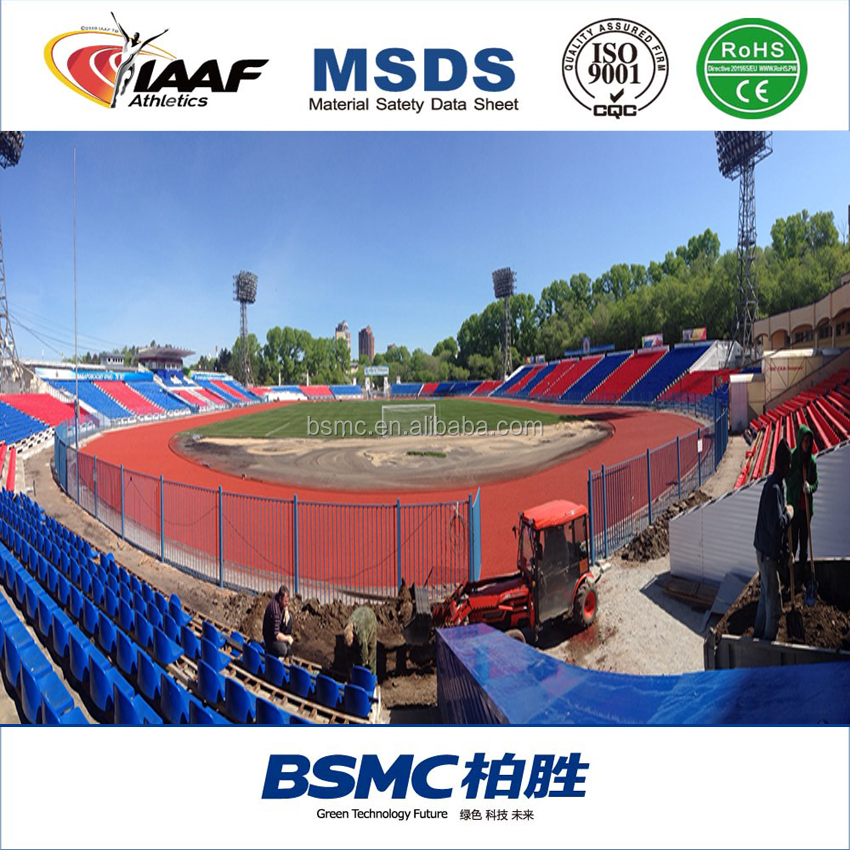 Guangzhou Factory Hot Sell Synthetic rubber running track surface material