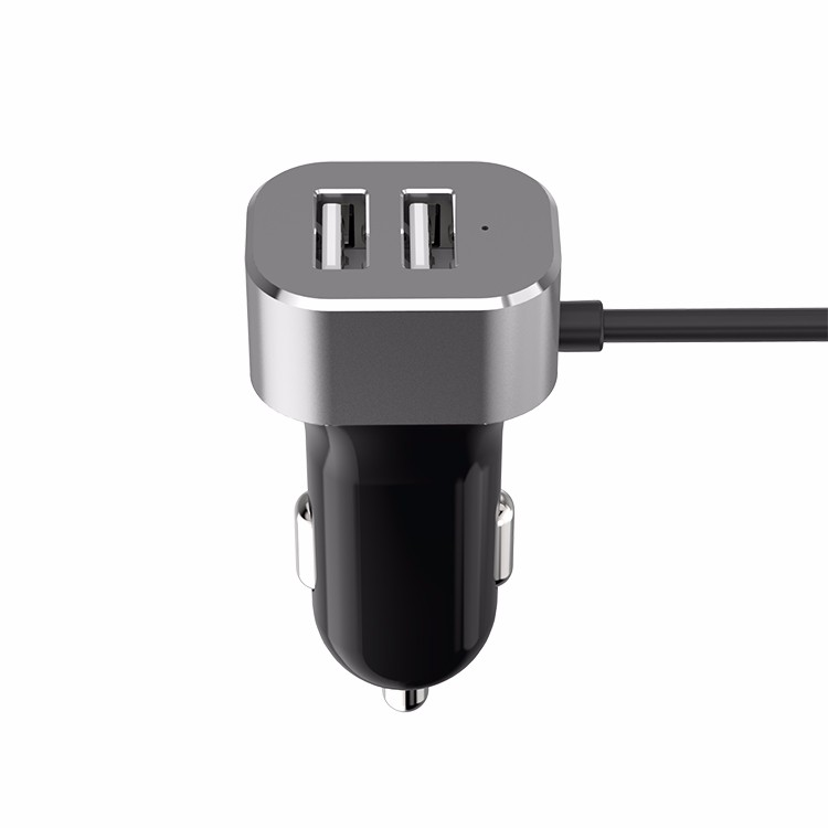 WORLD FIRST most powerful 4 USB Ports Hub DC 5V 9.8A Rapid Type C Car Charger Adapter with 1.5m cable