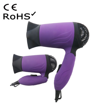 Foldable Rubber Finish Private Label Hair Dryer