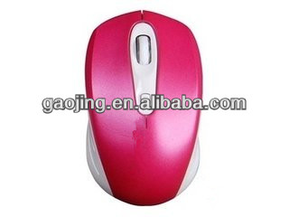Wholesale pink girl wireless optical mouse very cute