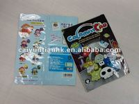 Cute three side sealed plastic toy/candy packaging bag