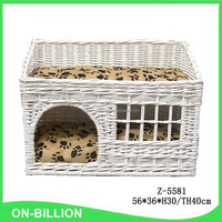 Natural wicker material small animals usage wicker cat house