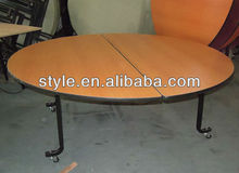 used round folding banquet table with wheel E-018