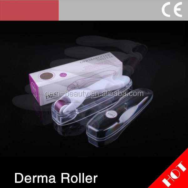 DRS micro needle therapy 600 pins stainless dermaroller changeable heads skin derma roller for anti cellulite