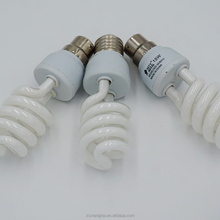 e27 b22 small half spiral cpmpact fluorescent lamp 2700k/6500k 4 circles 9mm pipe glass tube cfl bulb