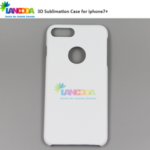Sublimation items blanks 3D printable Phone Case For iphone 7 plus with round hole