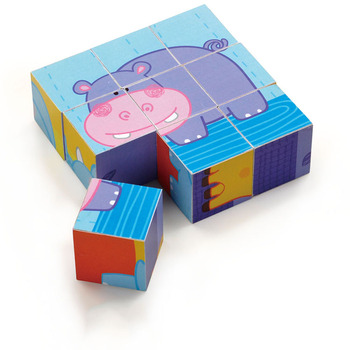 animals designs kid wood toys 3d wooden blocks cube puzzles kid toy/infant toy