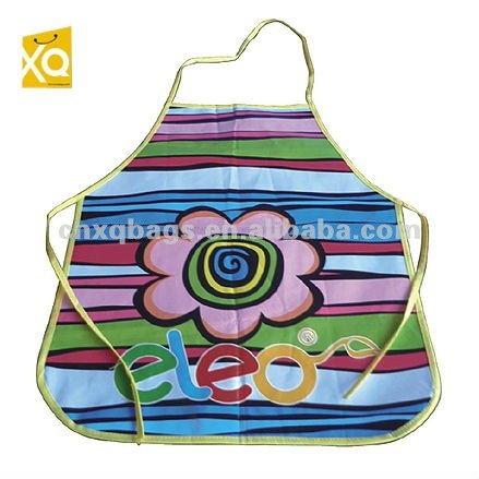 Flower pattern kids painting apron